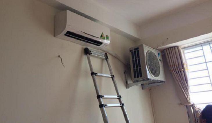 cục nóng trong nhà