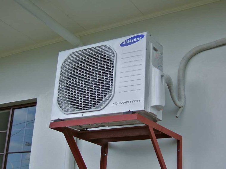 lắp cục nóng điều hòa ở đâu